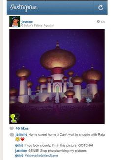 If Disney princesses had Instagram. So stupid that it's a little funny :-)