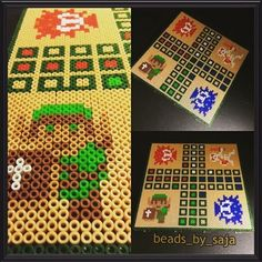 Link ludo board game hama beads by beads_by_saja