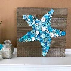 Whether you have a beach house or a beach themed room in your home this button starfish is the perfect unique addition to your beach decor!