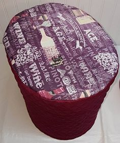 Quilted Purple Wine Food Processor Cover Burgundy Large -- You can get additional details at the image link-affiliate link.