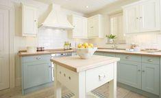 Kitchen, love the blue
