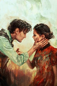 Giclée fine art print on Somerset Velvet paper Artwork by Alice X. Zhang, inspired by Doctor Who (Eleventh Doctor & Clara Oswald) Open edition Ships in weeks Décimo Doctor, Art Doctor Who, Serie Doctor, Eleventh Doctor, Doctor Funny, Sherlock, Geronimo, Dr Who, Star Trek