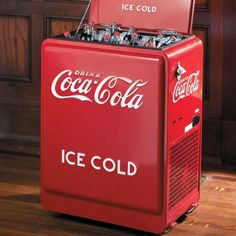 Coca-Cola Retro Cooler -- just like the ones in the corner stores when I was a kid