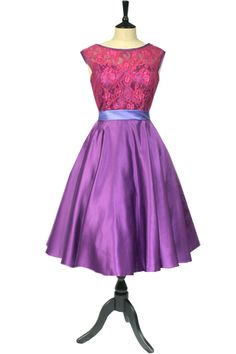 Lace 50's bridesmaid dress