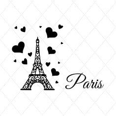 Mini Drawings, Easy Drawings, Paris France Travel, Paris Shirt, Cricut Stencils, Paris Wallpaper, Vinyl Designs, Shirt Designs, Ideas