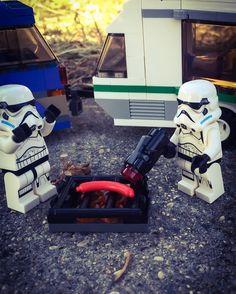 That is NOT the way to light a #bbq. #glamping #starwars #stormtroopers #lego #legostagram #afol #legominifigures #hotdog by martijnvanluijn