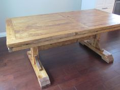 Furniture, DIY Custom Distressed Farmhouse Dining Table With Double  Pedestal For Rustic Dining Room Spaces Ideas ~ Farmhouse Dining Table Part 56