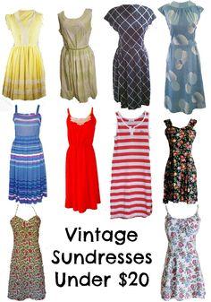 miskabelle vintage: 10 under $20: Vintage Sundresses