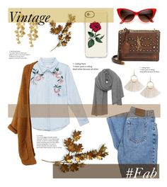 """Vintage"" by chanelperez ❤ liked on Polyvore featuring Rails, Yves Saint Laurent, Casetify, Tory Burch, American Vintage, Calvin Klein, C. Jeré, vintage, chic and Chanel"