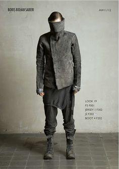 Can he even see but oh well- Boris Bidjan Saberi, Future Fashion Dark Fashion, Fashion Art, Love Fashion, Mens Fashion, Fashion Design, Gothic Fashion, Dystopian Fashion, Cyberpunk Fashion, Avantgarde