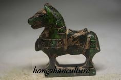 Delicate Chinese old jade hand carved horse statue cd3