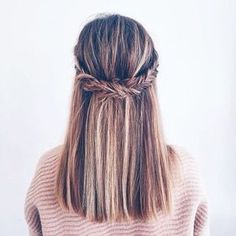 Straight braided hairstyle