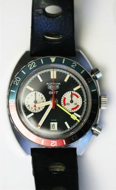 Heuer Autavia GMT 741.603 with high beat Valjoux 7740