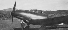 The Piaggio P.119 was Italy's experiment with putting the engine at/near Center of Gravity, and was similar in many ways to the Bell P-39 Airacobra. The radial engine was air cooled, and required the large scoop under the nose for cooling air!  It was flight tested, and performed well, but firing the weapons caused excessive vibration - before this could be resolved, Italy surrendered and the P.119 faded into obscurity ...