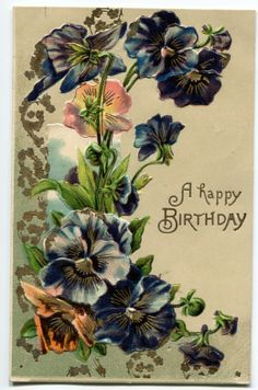 Are vintage greeting cards worth anything yes and no pinterest a happy birthday card topper wflowers m4hsunfo
