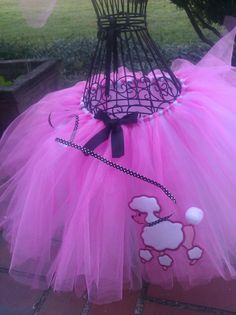 Pink TuTu Poodle  Skirt  and  matching by PinkToesAndHairBows, $40.00