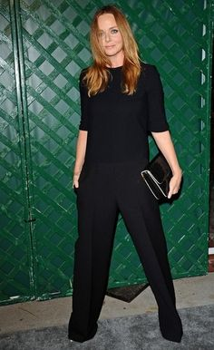 Stella McCartney Patent Leather Clutch - Stella McCartney wore all black except for the white border of her clutch to the premiere of her father's music video.