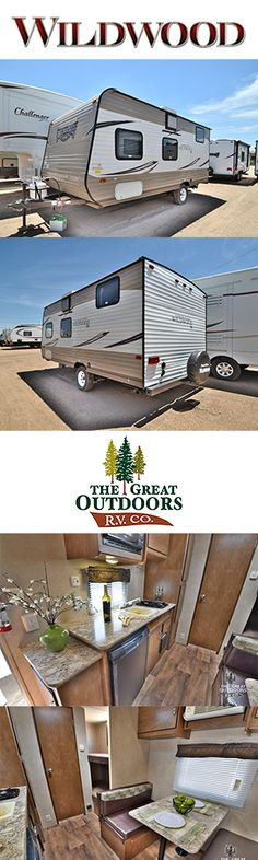 2017 FOREST RIVER WILDWOOD 195BH www.TheGreatOutdoorsRV.com The Wildwood 195BH is one of the lightest compact travel trailer with bunks available. The unit includes A/C, furnace, microwave, stove, sink and large pantry. With two bunks in the rear and a queen bed in the front this is the perfect trailer for a family.