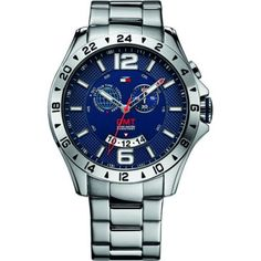 Tommy Hilfiger - Mens Blue and Silver Baron Chronograph Watch - 1790975 - Online Price: £150.00