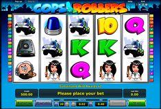 """Zeit zum jagen! Novomatic 5 Walzen Video Spielautomat """"Cops n Robbers"""" hat 20 Gewinnlinien und eine Menge von Eingeschaften, wie Wild, Scatter, Freispiele und Bonus Spiel zu bieten und wartet auf dich! Fange dein Chance und spiel Cops n Robbers Slot gratis!"""