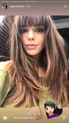 Hairstyles with bangs 2019 – Madame hairstyles- Frisuren mit Pony 2019 – Madame Friisuren Hairstyles with Bangs 2019 - Curly Hair With Bangs, Haircuts With Bangs, Long Curly Hair, Curly Hair Styles, Natural Hair Styles, Layered Hair With Bangs, Hair Bangs, Long Brunette, Brunette Hair