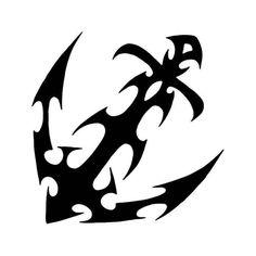 Tribal Anchor Vinyl Decal Sticker  BallzBeatz . com Anchor Drawings, Tribal Art, Tribal Henna, Animal Tattoos, Free Stencils, Wood Carving Patterns, Anchor Tattoos, Car Window Stickers, Cool Stickers