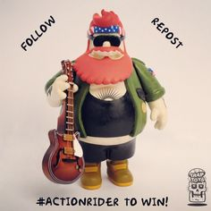 Trap Toys  - Action Bronson - Figure Giveaway #ActionRider - http://www.sugarcayne.com/2015/05/trap-toys-action-bronson-figure-giveaway/