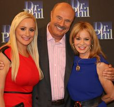 Reality star Erica Rose, Dr. Phil, sillhouette celebrity artist Cindi Rose after being on the Dr. Phil show, see Dr. Phil photos on this Pinterest, done by Cindi Rose.  silhouettesbycindi.com