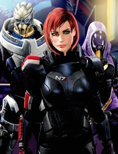 Garrus, Shepard, and Tali