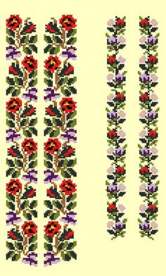 Cross Stitch Designs, Cross Stitch Patterns, Long Sleeve Bridal Dresses, Loom Beading, Diy Flowers, Textile Art, Floral Tie, Embroidery Designs, Diy And Crafts