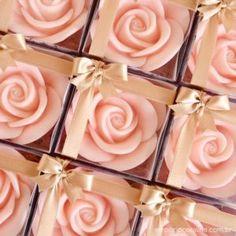 Sabonete de rosas
