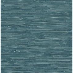 2657-22265 - Natalie Teal Faux Grasscloth Wallpaper - A - Street Prints