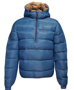 Stay nice and toasty in this hooded mountaineering jacket without added weight! The Alpini Mountain Anorak Hoody from Brooks-Range is a compact, lightweight, 850 power goose down parka.