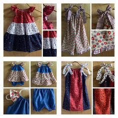 The 4th of July is fast approaching!  BBQ's, parties and parades!  These adorable outfits are ready for summer fun!