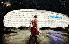 """""""Bayern barbarian"""" Created by me Angelov :) (A re-pin, because of the great victory against FC Barcelona) Mia San Mia!!"""