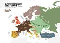 ••Europe acc. to Future•• 2022 map of stereotypical ignorance • 1 of the 40 cartographic caricatures ridiculing the worst excesses of human bigotry and narrow-mindedness • in the most original Atlas! ; ) ••ATLAS OF PREJUDICE•• Mapping Stereotypes, Vol. 1 by Yanko Tsvetkov (Bulgarian) 2013-08 • 74p • $15 • ISBN: 1491297107
