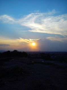Hallo #sunset #indonesiaview from bukit setengah lima sukarame