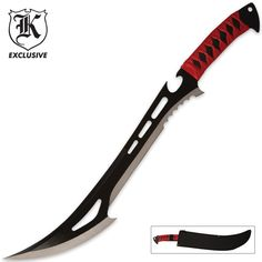 RED GUARDIAN TACTICAL HELL BENT ZOMBIE SWORD KNIFE