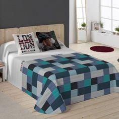 Colcha Bouti Atlanta Azul BEVERLY HILLS POLO CLUB Ikea, Beverly Hills Polo Club, Comforters, Atlanta, Blanket, Bedroom, Furniture, Home Decor, Bedspread