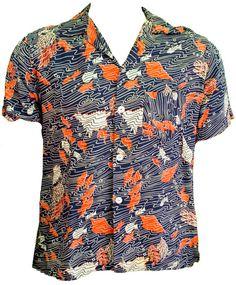 1950s Unisex Plus Size Shirt Blouse Cotton by TopangaHiddenT
