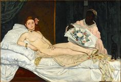 Édouard Manet: Olympia, 1863 (inspired by Titian's Venus of Urbino)