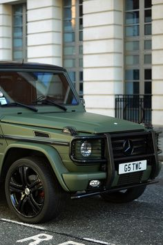 I'd look great in a green G wagon. Just sayin'.