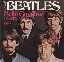 """The Beatles Capitol Single 2056 """"I Am The Walrus"""" / """"Hello Goodbye"""" Produced by George Martin Found a cool site that includes this 45 as one of the greatest 200 """"two-sided hits"""" of all time. Beatles Songs, Beatles Party, Beatles Band, Beatles Photos, Pop Rock, Rock And Roll, Lps, Great Bands, Cool Bands"""