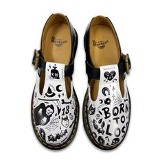January: Dr. Martens Illustrator of the Month - Pippa Toole. Customised a pair of Polleys.