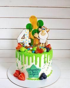 Cartoon Birthday Cake, Twin Birthday Cakes, Birday Cake, Cake Cookies, Baker Cake, Girl Cakes, Piece Of Cakes, 2nd Birthday Parties, Fondant Cakes