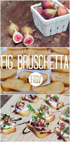 A bright, fresh twist on traditional tomato bruschetta. #summerrecipe #figs #israelikitchen