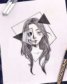 art sketchbook Ana Clara Viana (ana_claaraviana) I - Dark Art Drawings, Art Drawings Sketches Simple, Pencil Art Drawings, Cool Drawings, Tattoo Drawings, Tattoo Sketches, Tumblr Drawings, Random Drawings, Detailed Drawings