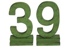 39 Number Set, 2 Pcs on OneKingsLane.com