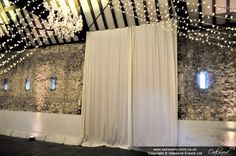 White curtains to cover the existing black barn curtains at Hurley Black Barn, Canopy Lights, White Curtains, Hurley, Chandelier, Cover, Beautiful, Home Decor, White Sheer Curtains
