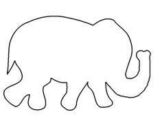 Simple elephant pattern. Use the printable outline for crafts ...
